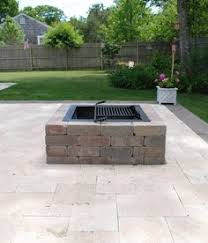 square paver patio with fire pit. Square Fire Pit Kit - Modular Stone Pits Paver Patio With