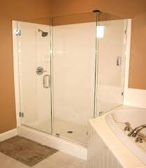 semi frameless shower shower enclosure with clips semi frameless shower door cost