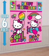 hello kitty scene setter wall banner birthday party decorations
