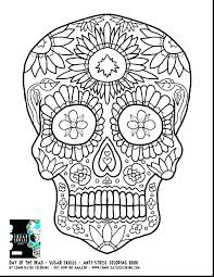 Coloring Pages Sugar Skull Coloring Page Printable Free Pages Day