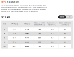 Nike Mens Medium Size Chart Size Chart