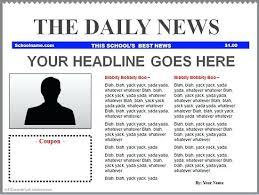 Newspaper Front Template Newspaper Headline Template Free School High Naveshop Co