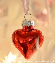 valentine s day feather tree covered in red and pink mercury glass hearts 6