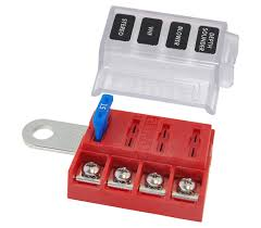 12 24 v dc circuit fuses and boxes wind sun st blade battery terminal mount fuse block