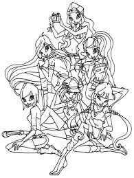 Small Picture Ordinary Winx Club Coloring Pages Winx Club Coloring Pages Image 8