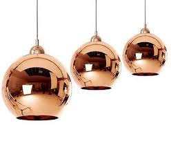 2 of 3 6 size copper mirror glass ball ceiling light pendant lamp chandelier