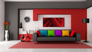 modern colorful furniture. living room modern colorful decor with red painted furniture i
