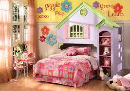 Home Design Metal Twin Size Canopy Bed For Little Girl