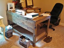 wooden home office desk. Contemporary Office Rustic Office Desk In Industrial Fusion Reclaimed Wood Home Decor 9 With Wooden F