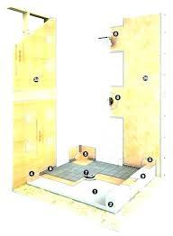 shower floor cover shower pan liners floor membrane home depot noble liner goods waterproof roll on