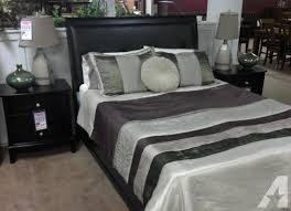 new black leather headboard queen bed two left great