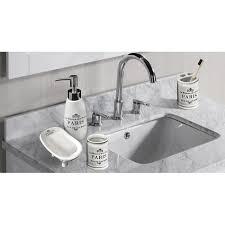 One Allium Way Katniss Paris <b>Ceramic 4 Piece Bathroom</b> ...
