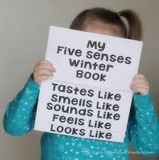 describing winter a five senses winter writing activity weird  5 senses winter flip book