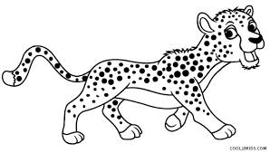 Download free easter egg coloring pages and sheets along with easter activity worksheet. Printable Cheetah Coloring Pages For Kids