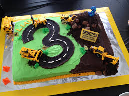 Construction Birthday Party Decorations Construction Birthday Cake Kids Birthday Cakes Pinterest