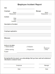 Incident Report Template 85474 Incident Report Form