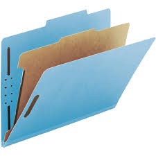 100 Recycled Pressboard Colored Classification Folders Legal