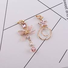 <b>2018 Sweety Korean</b> Crystal bow pearl Clip on Earrings For Girl ...