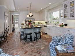 Kitchen Brick Floor The Best Pattern Of Brick Kitchen Flooring Orchidlagooncom