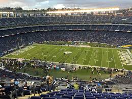 Chargers Stadium Seating Chart 16 Clean Club Level Qualcomm Stadium