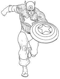 Free Coloring Pages Of Captain America 4136, - Bestofcoloring.com