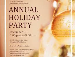 Free Holiday Party Templates Free Corporate Holiday Party Invitations