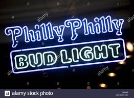 Bud Light Commercial Philly Philly Advertisement For Bud Light In The Window Of A Local Bar In
