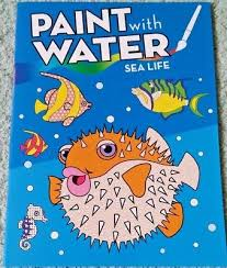 New Paint With Water Coloring Book Ocean Sea Life Animals No Mess