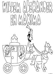 Kleurplaat Huwelijk Willem Alexander Maxima Kleurplatennl