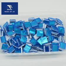 jy16062 glass mosaic pieces for table mosaic diy