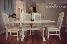 Painted Kitchen Table Pretty Distressed Using A Polycrylic Sealer With Chalk Paintar