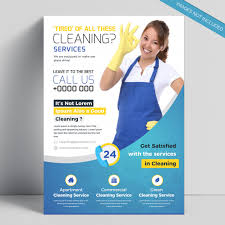 Cleaning Brochure Creative Cleaning Service Flyer Template Vector Premium