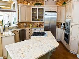 white stone kitchen countertops. Delighful Stone Inviting Kitchen Designed With White Quartz Countertops And Distressed  Cabinets To Stone A