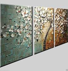 textured tree  on cheap wall art canvas sets with knife painting framed wall art canvas sets rugs curtians