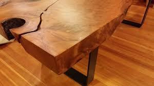 Redwood Slab Dining Table Custom Made Redwood Slab Dining Table By Landberg Designs