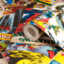 Marvel Comic Bedroom Marvel Marvel Cover Story Wallpaper Departments Diy At Bq
