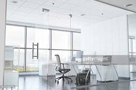 office room. Modern Office Room With Glass Walls