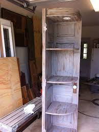 corner cabinet made from old doors by woodworksbylarry on etsy