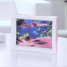 blue moving sand picture frame drifting sandscapes motion art decor gift decor sand picture frame with 38 26 piece on keluodetrade s dhgate