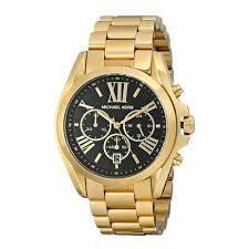 Michael Kors Bradshaw MK5739 orologio da polso al quarzo fashion unisex con  cassa in acciaio inossidabile, cinturino in acciaio inossidabile oro e  quadrante nero