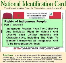 Make Your Own Identification Card National Identification Card
