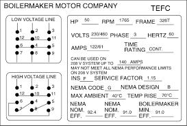 electric motor nameplate