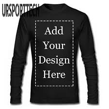 <b>URSPORTTECH Brand</b> Custom Men Long Sleeve T Shirt Add Your ...