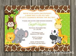 Jungle theme baby shower invitations and get ideas how to create the baby  shower invitation design of your dreams 1
