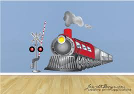 cool train wall art kids decal trend decals decoration and for nursery canvas stickers metal
