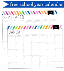 Printable School Year Calendars 2013 2014 School Year Printable Calendar Free Download