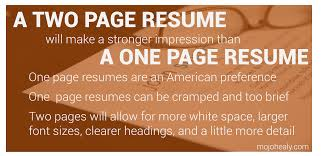 How Long Should A Resume Be Should My Resume Be More Than One Page Therpgmovie 84