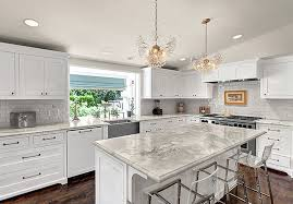 sloped ceiling cabinets. Wonderful Ceiling White Kitchen Cabinets With Marble Countertops To Sloped Ceiling C