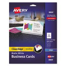Avery 8870 Template Avery 8869 Premium Clean Edge Business Cards