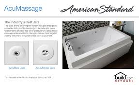 american standard 2675 018 020 white colony 60 acrylic whirlpool bathtub with reversible drain and aassage jets faucet com